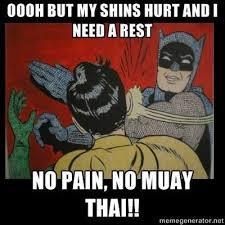 Muay Thai Memes - ooooh by my shins hurt and i need a rest no pain no muay thai