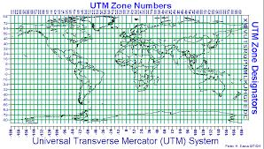 utm zone map utm zones