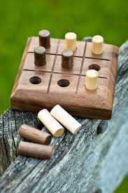 handmade wooden tic tac toe game walnut 3 1 8