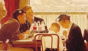 saying grace by norman rockwell from saturday evening post november 24 1951 jpg