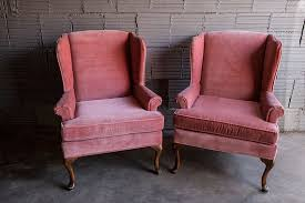 Velvet Wingback Chair Gorgeous Pink Wingback Chair Pink Blush Velvet Wingback Chair Pair