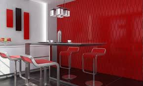 Red Home Interior  Home Interior Design With Red Decorating - Home interior wall design