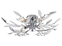 willow 4 light semi flush chrome ceiling light amazon co uk lighting