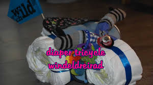 tutorial diaper tricycle windeldreirad diy baby shower gifts