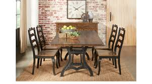 industrial court mango 5 pc rectangle dining room rustic