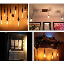 triple light bulb socket e27 edison chandelier bar house retro l head triple light
