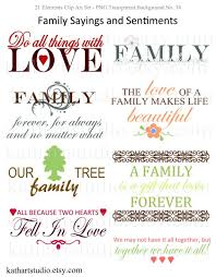 instant family sayings and sentiments clipart for