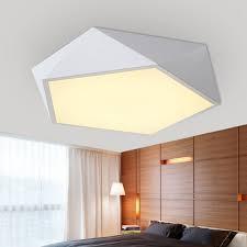 plafonnier pour chambre moderne blanc noir acrylique led plafond le tambour plafonnier
