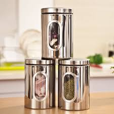 Stainless Steel Kitchen Canister Sets Aliexpress Com Buy 1pc High Quality Stainless Steel Canister Jar