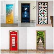 3d wall stickers imitate mural painting living room bedroom wooden 3d wall stickers imitate mural painting living room bedroom wooden door sticker paste wood drawbridge decoration refurbished waterproof 45fu fairy wall