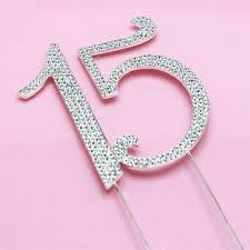 number cake topper number 15 rhinestone cake topper quinceañera party favors