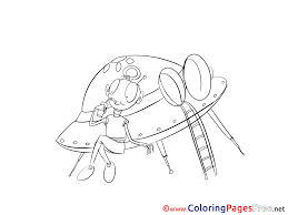 spaceship coloring pages awesome pages picture in flying saucer