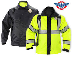 Construction High Visibility Clothing First Class Reversible High Visibility Raincoat West Coast