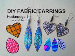 paper mache earrings diy jewelry how to make feather earrings fabric earrings