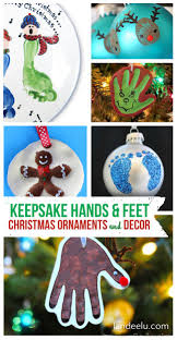 diy christmas ornaments using kids hands and feet kids hands