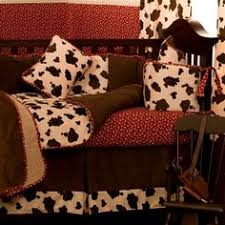 Western Boy Crib Bedding Cow Print Western Crib Bedding Set By Sewcustomcorporation On Etsy