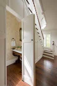 under the stairs powder room donald lococo architects classic