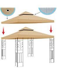 Sunshade Awning Gazebo Gazebos Umbrellas Canopies U0026 Shade Patio Furniture Amazon Com