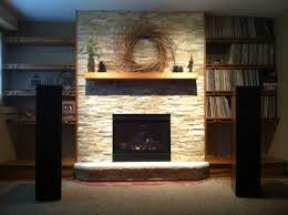 mendota direct vent fireplace dxv35 custom book shelves built by