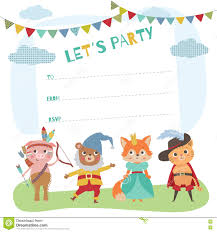 Birthday Cards Invitation Birthday Card With Cute Little Animals Card Invitation For Cost