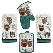 amazon com mainstays 7 piece kitchen set owl home u0026 kitchen