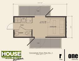 container size floorplan though living in a metal house would