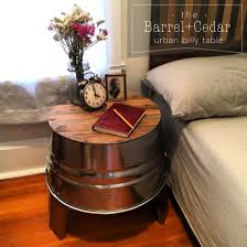 Glamorous Barrel Nightstand For Nightstands Designs Plans Free
