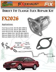 fx2026 semi direct fit exhaust flange repair flex pipe replacement