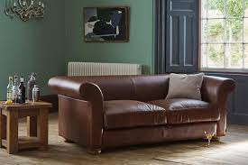 the grandad leather sofa handcrafted by indigo furniture