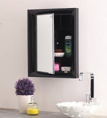 buy gem black mirror cabinet by nilkamal online bathroom
