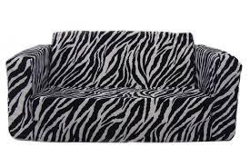 child sleeper sofa fun furnishings toddler flip zebra kids sofa sleeper u0026 reviews