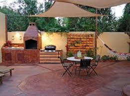 outdoor astounding small outdoor kitchen with custom patio cover