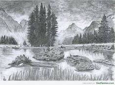 pictures beautiful scenery drawings pencil drawing art gallery