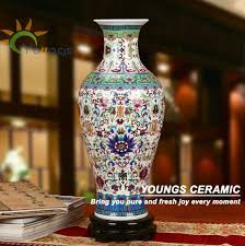 Large Vases Wholesale Unique Chinese Large Floor Blue Ceramic Flower Vases Wholesale