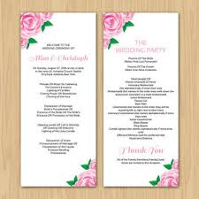 Wedding Program Ceremony Best Wedding Ceremony Program Templates Products On Wanelo
