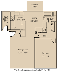 One Bedroom Floor Plan One Bedroom Apartments Fort Wayne Willow Creek Crossing Apartments