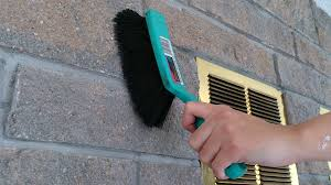 Cleaning Bricks On Fireplace by Remodelaholic Dark Gray Painted Fireplace Focal Wall
