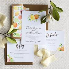 Invitations For Weddings Printable Citrus Invitations For Weddings Or Parties