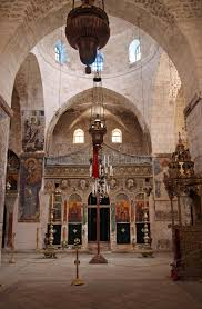 basilica of the monastery of the holy cross in jerusalem editorial