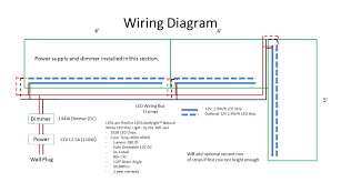 wiring diagrams simple led circuit light bar in strip diagram