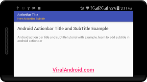 android toolbar tutorial setting android actionbar subtitle and color viral android
