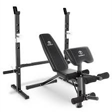 marcy olympic weight bench with bar catches leg developer
