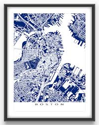 City Of Boston Map by Boston Map Print Featuring The Fantastic City Of Boston