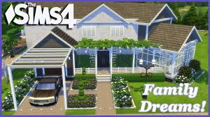 Family House Plan The Sims 4 Family Dreams 1 2 House Build Youtube