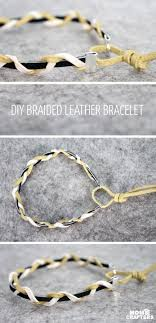 braided leather chain bracelet images Braided leather bracelet tutorial moms and crafters jpg