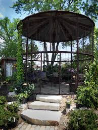 wonderful gazebo made from an old corn silo at down to earth