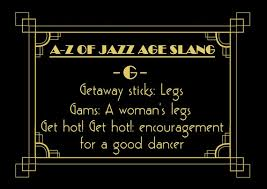 themed sayings jazz age 1920s slang words phrases sayings party decoration cards