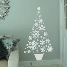 on the wall christmas tree christmas lights decoration snowflake christmas tree wall sticker