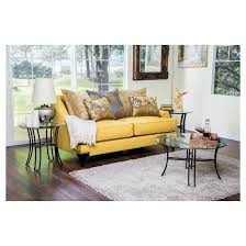 leanne formal upholstered love seat gold furniture of america