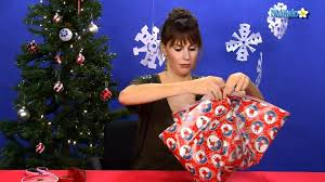 how to gift wrap an odd shaped present youtube